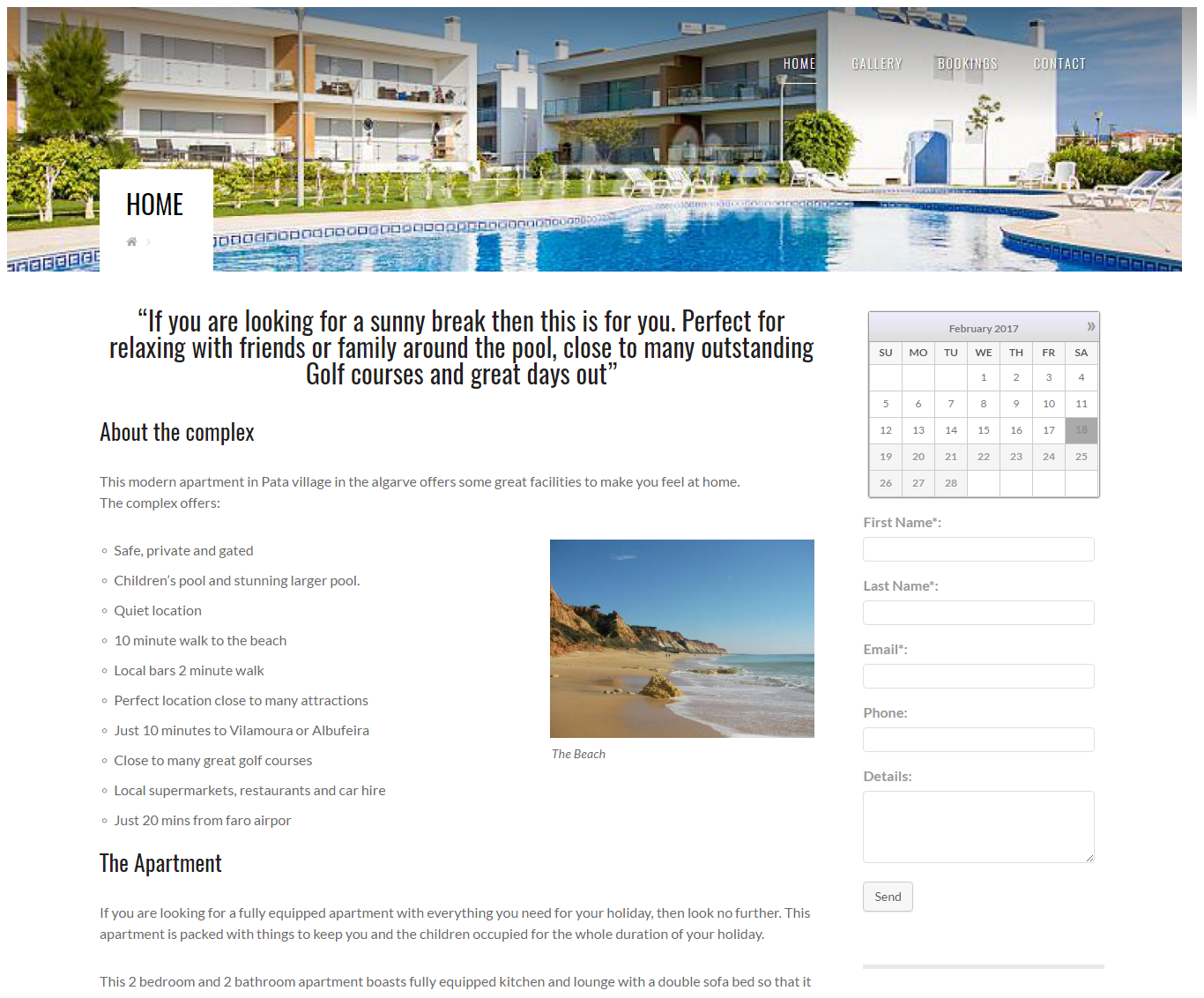 screenshot of Holiday Apartment Portugal
